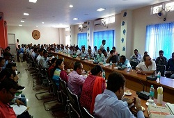 Review meeting held at the DC Conference Hall on progress of verification-19th April, 2016.