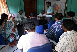 DC Goalpara conducts a meeting with CO and LRCR officers of Dudhnoi Circle to take stock of the progress of verification works  June 2016.