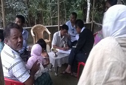 First day of Field Verification carried out by Bordoloibam NSK at Nowboicha Circle in Lakhimpur on 4th November, 2015.
