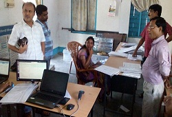 DC Sonitpur on quality check visit of Office Verification documents at various NSKs in the district - June 2016.