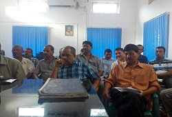 Training and discussion on various matters related to verification process held at Barkhetri Rev Circle in Nalbari - July 2016.