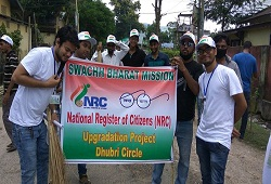 Safai Abhijaan undertaken by District NRC Team Dhubri on the 13th August 2016.