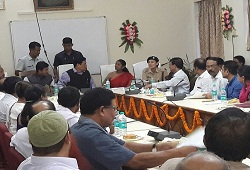 Honourable Chief Minister Assam, Shri Sarbananda Sonowal chaired a review meeting today (21/08/2016) at Deputy Commissioner Office Sonitpur to review the overall progress of NRC Updation work in the district.