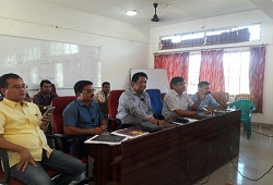 A meeting held on various matters related to ongoing processes under the verification phase that is underway in Baksa district. The meeting was attended by all Government officials- 2 Nov, 2016.