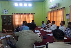 Meeting held with SP Baksa, COs, SDPO Tamulpur and Salbari on security arrangement and proper maintenance of NRC documents in NSKs across Baksa district - 24th Oct, 2016.
