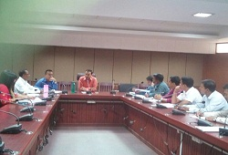 Review meeting on NRC updation progress held Jorhat with concerned members of the district NRC Team in attendance. The meeting was chaired by DRCR cum DC Shri Virendra Mittal- 28 Oct, 2016.