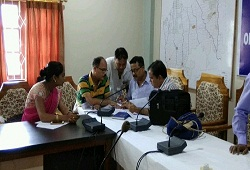 Practice session for verification of MFT conducted among LRCRS in group of 5 to 6 officials at the Office of the Deputy Commissioner, Udalguri-15th Sep 17.