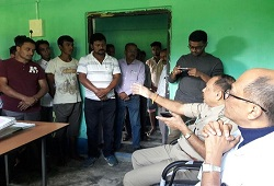 Field visits my DC Nalbari and SP Nalbari to various NSKs in the district to take stock of the ongoing activities - 31st Oct 2017