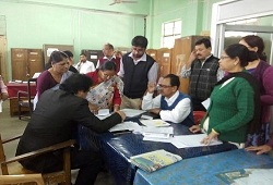 State Coordinator NRC and Additional State Consultant at Nagaon districts Office Verification Cell on 7th Dec, 2015.