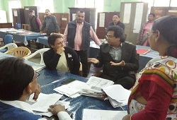 State Coordinator NRC in converstaion with Deputy Commissioner Nagaon on the districts Office Verification Status today (7th Dec, 2015).