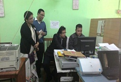 State Cordinator NRC checks the Office Verification NRC Documents at the Verication Cell in Nagaon today (7th Dec, 2015.)