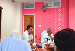 DC Goalpara JVN Subramanyam presides over a review meeting to take stock of the status of the verification process-19th April, 2016.