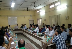Review meeting held at Office of the Deputy Commissioner Chirang on DOCSMEN, OV progress, MFT and VTR on 3rd May 2016.