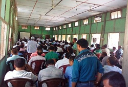 Review meeting conducted by DRCR Kokrajhar at Basic Training centre, Kokrajhar on ongoing NRC Updation works at the NSKs-4th Oct 2016.