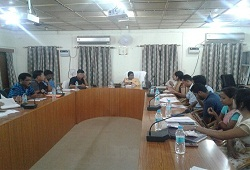 Review meeting conducted on ongoing NRC updation works in the district. DC Dhemaji chaired the meeting with all senior officials in attendance-2 Oct, 2016.