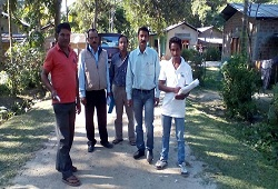 Field Verification under Biswanath Revenue Circle in Sonitpur on 29th Nov, 2015.