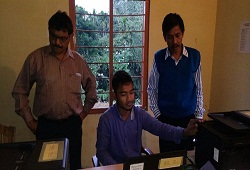Entry of Office verification documents in DOCSMEN software at Chandrapur Circle of Kamrup Metro -21st Dec, 2015.