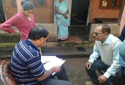 Field Verification at households under NSK-4 ( Mayong-i) of Kamrup Metro - 21st Dec, 2015.