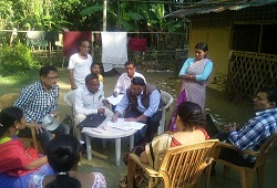 Field Verification by officials of Seuni Ali NSK, East Circle, Jorhat on 24th Nov, 2015.