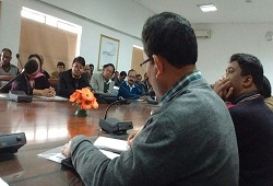Deputy Commissioner Kamrup Shri Binod Sesan presiding over a review meeting with LRCR officers on ongoing verification process today - 22nd Jan, 2016.