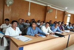 LRCRs and Local Officers attend a capacity building session on Application Form Fill Up & Receipt at Sukafa Hall, DC office in Sivasagar on 13th June, 2015.