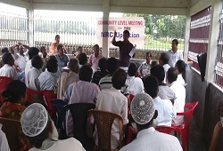 Public attends an awareness meeting on Application Receipt in Karimganj on 16th June, 2015.