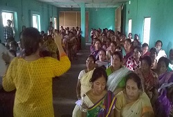Awareness Meeting attended by Anganwadi workers at Amingaon HS in Kamrup Rural on 16th June, 2015.