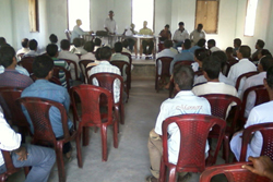 Public attends an educative session on NRC Updation process held during the launch phase