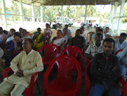 Public attends an awareness meeting organized on NRC Updation process under Bokakhat Revenue Circle in Golaghat District