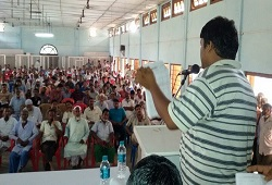 Awareness meeting held on Filling up of the Application Form organised in Dhubri on May 17th, 2015.