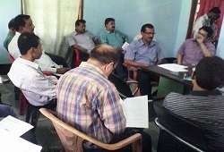 EAC, Circle Officer, District Master Trainers and CPSs attend a training session on Distribution of Application and Receipt phase in Sonitpur district held on May 18th, 2015.