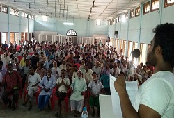 Public participates  in an awareness program held in Dhubri district on how to fill up the Application Form recently.