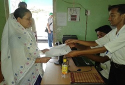 First Applicant of NRC Updation in Golaghat, Smt Jayabala Dutta.