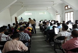 Community meeting and training at BDO Office organised in Dhekiajuli, Sonitpur on 10th June, 2015.