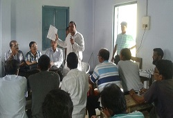 Community meeting on Application Form Fill Up organised at Panchgram NSK, Algapur Circle in Hailakandi on 10th June, 2015.
