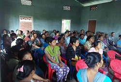 People from all age group seen attending an interactive session on Application Form Fill Up under Dudhnoi Circle in Goalapara on 10th June, 2015.