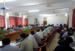 Trainees attend a demo session on Receipt of Application Form held in Nalbari on 28th May, 2015.