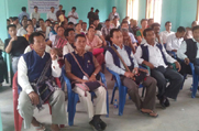 A public awareness meeting oragnised at Manja in the district of Karbi Anglong