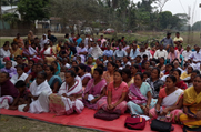 Women folks and village elders attends a meeting organized on NRC Updation process in Baksa District