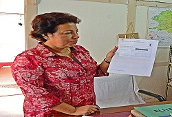 Ms. Juri Phukan, ACS, Deputy Commissioner of Dima Hasao receives her online Acknowledgement receipt.