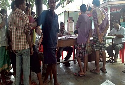 Jail inmates in Sivasagar seen submitting their NRC Application Forms.