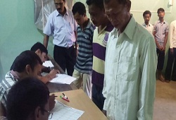Jail inmates of Goalpara submitting their NRC Application Forms.