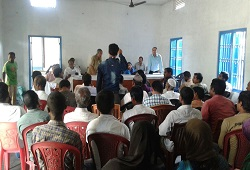 Officials addressing concerns expressed by public during the awareness campaigns held in Morigaon