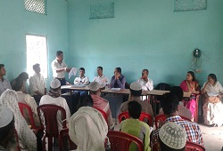 Public attends the awareness sessions on NRC updation process held under Laharighat Circle in Morigaon recently