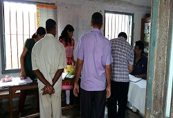 Seen in the picture is Team NRC of Biswanath Chariali guiding the inmates of Biswanath Jail in filling up their NRC Application Forms on 27th August, 2015.