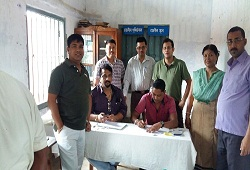 Team NRC of Biswanath Chariali guided the inmates of Biswanath Jail in filling up their NRC Application Forms on 27th August, 2015.
