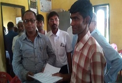 First Applicant of NRC Updation at Baguriguri GP under Chamaria Revenue Circle in Kamrup Rural on 16th June, 2015.