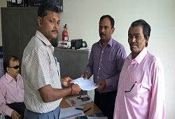 First Applicant on NRC Updation under North Guwahati Town Committee in Kamrup Rural on 16th June, 2015.