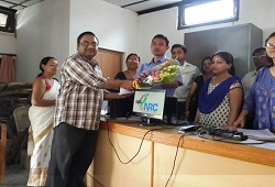 First Applicant of NRC Updation at East Revenue Circle in Dibrugarh, Shri Aditya Deora on 15th June 2015.