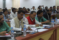 AASU Leaders attend a meeting held on NRC Updation process at the Office of the State Coordinator, Assam